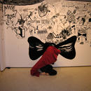 Drawing and dancing\performance and wall drawing in Beverly, Ma, USA, 2010