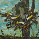 Nest, oil on canvas, 65 + 80 cm, 2010
